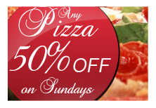 50% off pizza Papavero