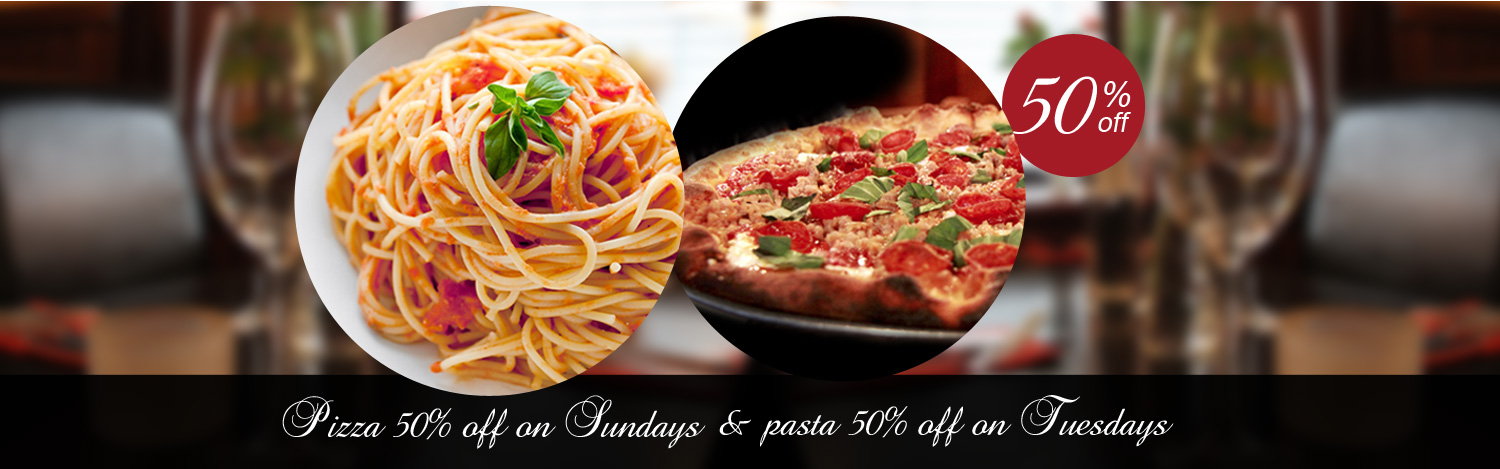 Pizza and past papavero 50% off